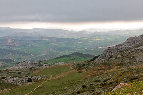 Blick aus den Wolken Richtung Malaga