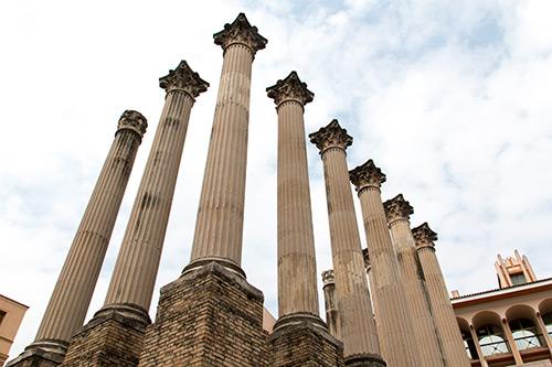 Reste des römischen Tempels