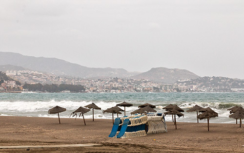 Aufgepeitschtes Mittelmeer